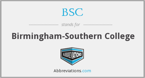 BSC - Birmingham-Southern College