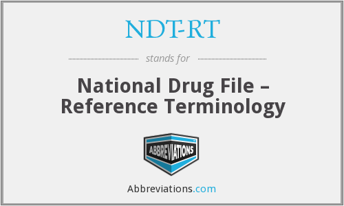 What does NDT-RT stand for?