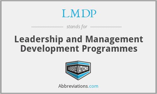 LMDP - Leadership and Management Development Programmes