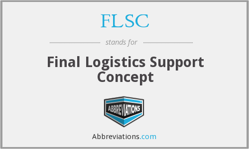 FLSC - Final Logistics Support Concept