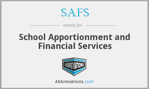 SAFS - School Apportionment and Financial Services