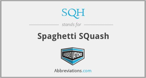 SQH - Spaghetti SQuash