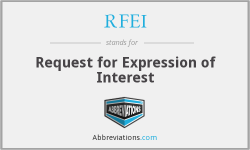 RFEI - Request for Expression of Interest