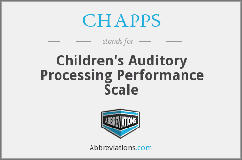 What does CHAPPS stand for?