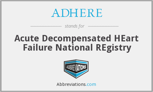 ADHERE - Acute Decompensated HEart Failure National REgistry