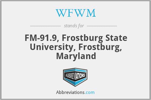 WFWM - FM-91.9, Frostburg State University, Frostburg, Maryland
