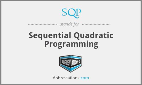 SQP - Sequential Quadratic Programming