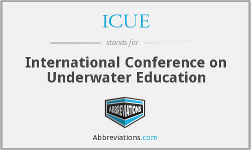 ICUE - International Conference on Underwater Education