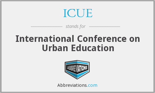ICUE - International Conference on Urban Education