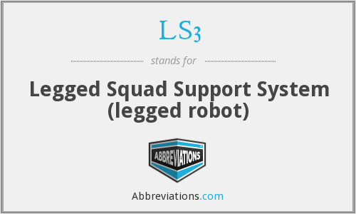 LS3 - Legged Squad Support System (legged robot)