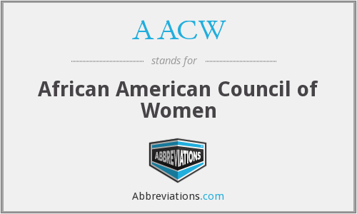 AACW - African American Council of Women
