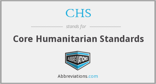 CHS - Core Humanitarian Standards