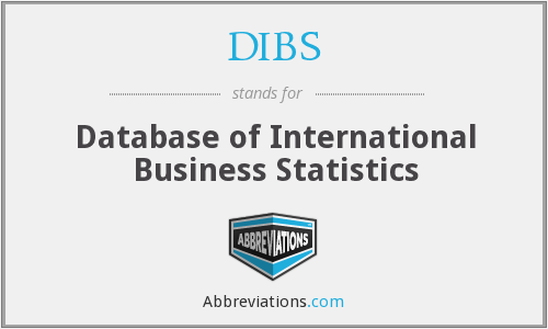DIBS - Database of International Business Statistics