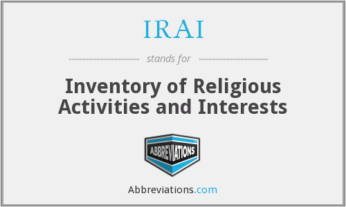 IRAI - Inventory of Religious Activities and Interests