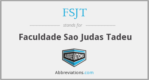 What does FSJT stand for?