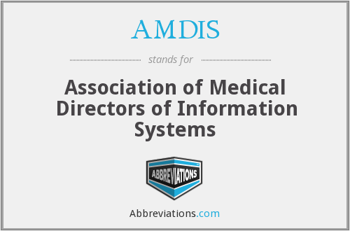 What does AMDIS stand for?