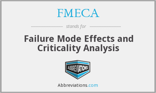FMECA - Failure Mode Effects and Criticality Analysis