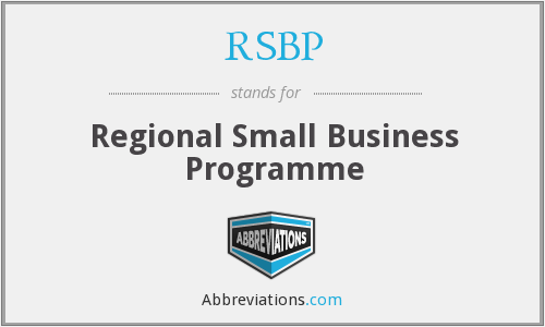 RSBP - Regional Small Business Programme