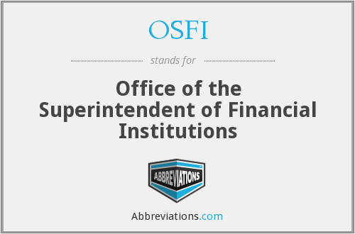 What does OSFI stand for?