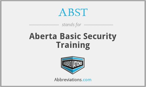 ABST - Aberta Basic Security Training