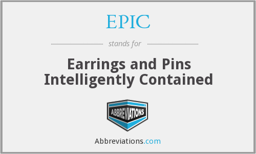 EPIC - Earrings and Pins Intelligently Contained