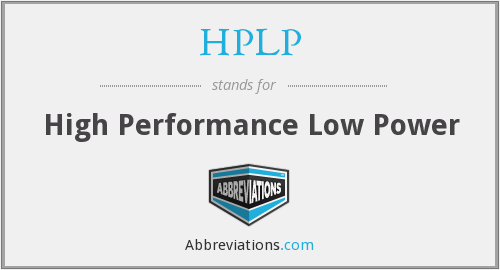 What does HPLP stand for?