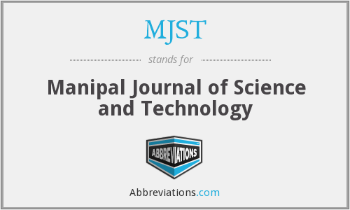 MJST - Manipal Journal of Science and Technology