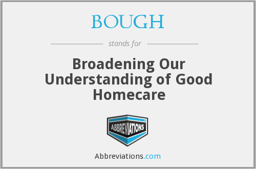 What does BOUGH stand for?