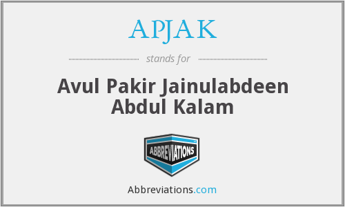 What does APJAK stand for?