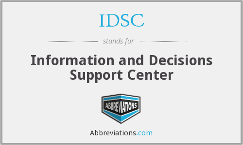 IDSC - Information and Decisions Support Center