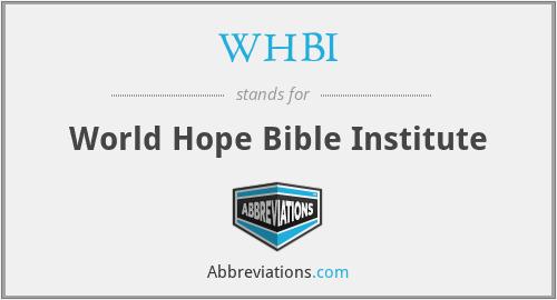 WHBI - World Hope Bible Institute