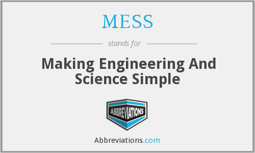 MESS - Making Engineering And Science Simple