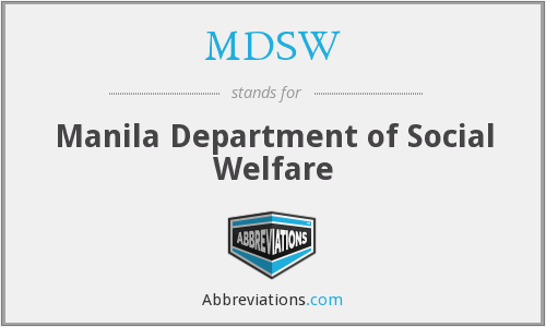 What does MDSW stand for?