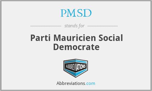 PMSD - Parti Mauricien Social Democrate
