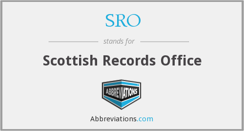 SRO - Scottish Records Office