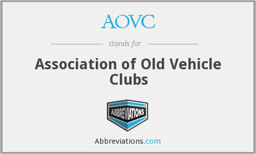AOVC - Association of Old Vehicle Clubs