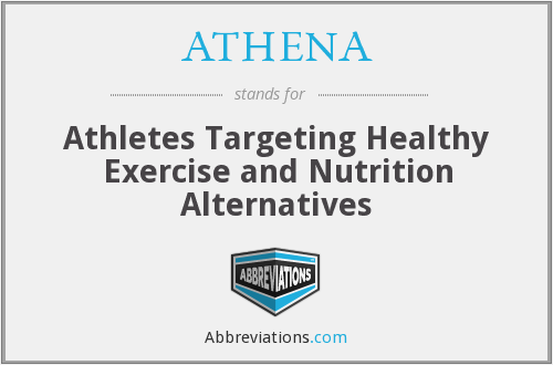 ATHENA - Athletes Targeting Healthy Exercise and Nutrition Alternatives