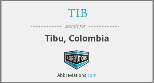 TIB - Tibu, Colombia