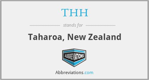 THH - Taharoa, New Zealand