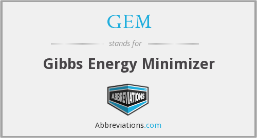 GEM - Gibbs Energy Minimizer