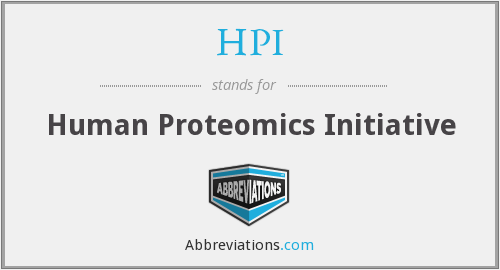 HPI - Human Proteomics Initiative
