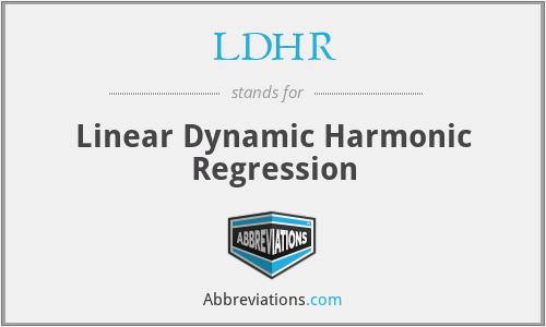 LDHR - Linear Dynamic Harmonic Regression