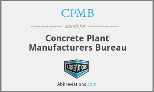 CPMB - Concrete Plant Manufacturers Bureau