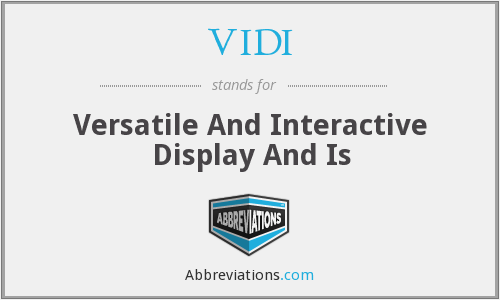 What does VIDI stand for?