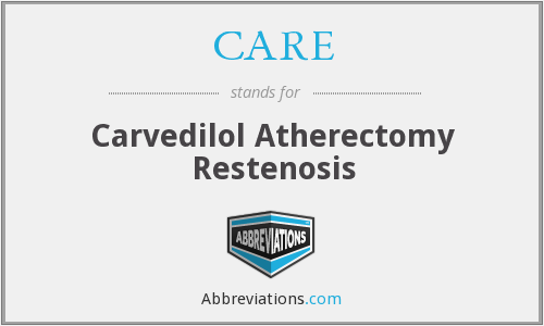 CARE - Carvedilol Atherectomy Restenosis