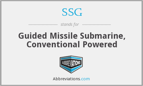 SSG - Guided Missile Submarine, Conventional Powered