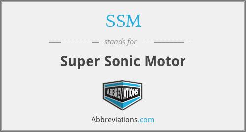 SSM - Super Sonic Motor
