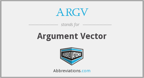 What does ARGV stand for?