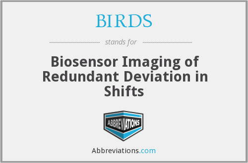 BIRDS - Biosensor Imaging of Redundant Deviation in Shifts