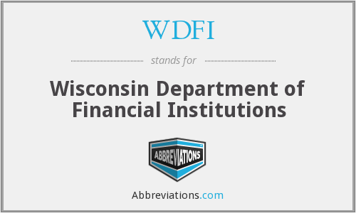 WDFI - Wisconsin Department of Financial Institutions
